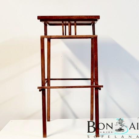 Mesa para bonsai de madera alta y recta