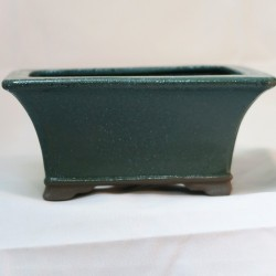 Maceta rectangular de Seto, verde