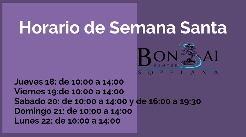 Horario de Semana Santa.